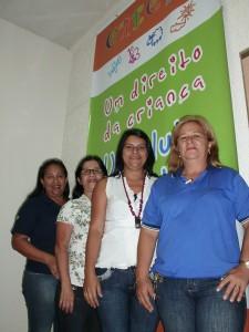 Diretoras e Assistentes Sociais dos Metalúrgicos do Amazonas, procurando vagas nas Creches de Manaus, para filhos dos industriários.