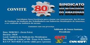 Cartaz Convite para a festa dos Metalúrgicos.