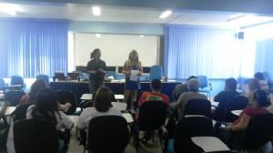 Dulce Sena, Secretária de Formação (à esquerda) e Rosiane Neves, Cientista Social (à direita). Foto: Mirinéia Nascimento