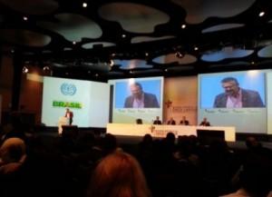 Solaney discursou no Plenário de alto nível. Conferência termina hoje (10). Foto: Reprodução