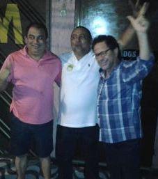Valdemir Santana (ao centro), Vital Meto (à esquerda) e João Pedor (à direita). Foto: Reprodução