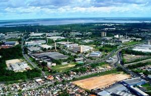 Vista aérea do Polo Industrial de Manaus. Foto: Reprodução