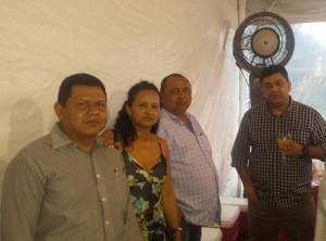 Ricardo Ferreira, Dulce Sena, Valdemir Santana e o Superintendete do Ministério Público do Trabalho e Emprego do Amazonas, Dermilson Chagas, Superintendente do Trabalho e Emprego do Amazonas