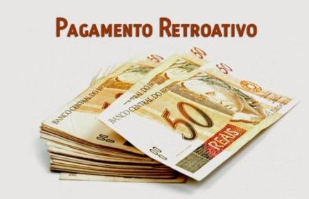 pagamento retroativo do reajuste salarial