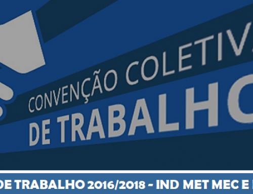 CONVENÇÃO COLETIVA DE TRABALHO 2016/2018 – IND MET MEC E DE MAT ELET DE MANAUS