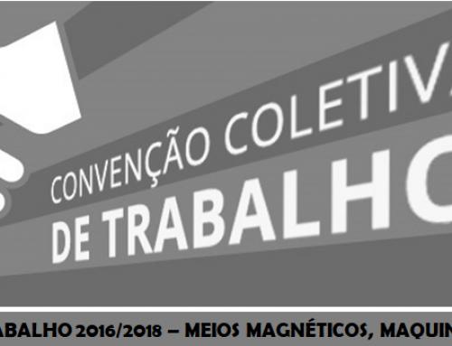 CONVENÇÃO COLETIVA DE TRABALHO 2016/2018 – MEIOS MAGNÉTICOS, MAQUINAS FOTOGRÁFICAS E SIMILARES