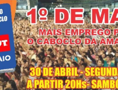 Boi-bumbá, várias atrações e muitos prêmios embalam o Dia do Trabalhador no Sambódromo, dia 30 de Abril