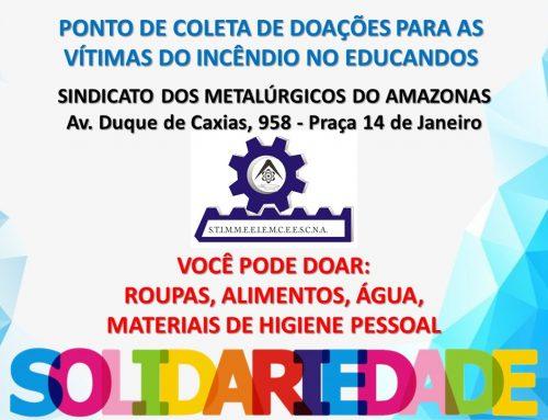 Sindicato dos Metalúrgicos do Amazonas – SINDMETAL-AM – Ponto de Coleta