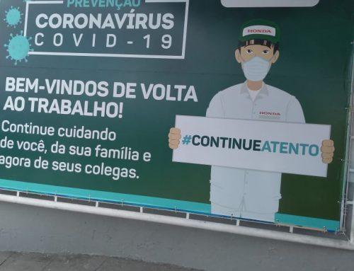 Moto Honda adota protocolos de saúde e segurança na volta ao trabalho após paralisação por coronavírus