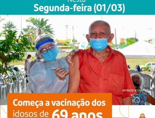 Começa a vacinação dos idosos de 69 anos